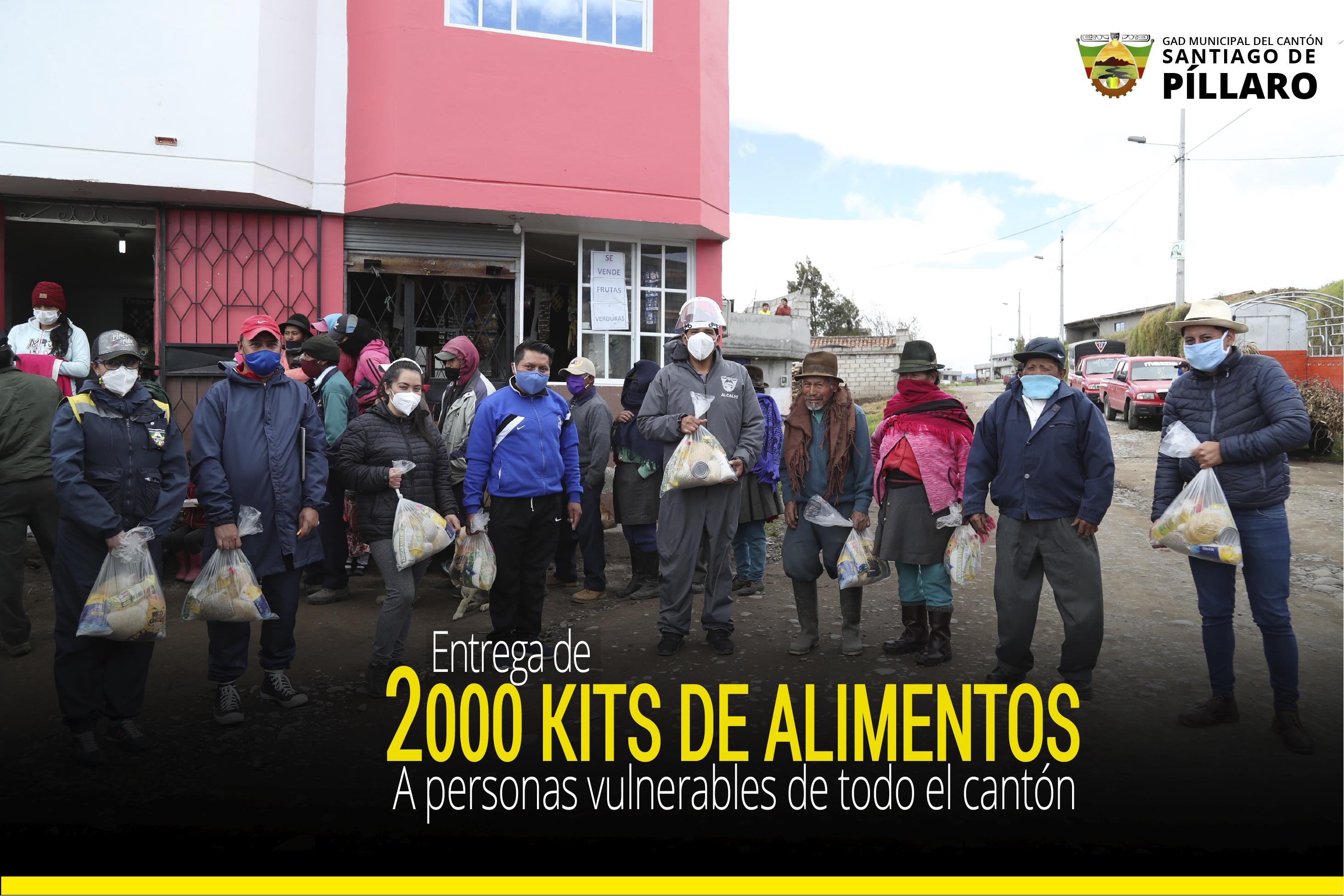 ENTREGA DE 2000 KITS DE ALIMENTOS A PERSONAS VULNERABLES