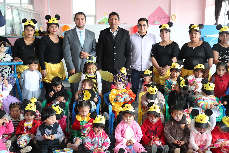 161 niños de cuatros CIBVs recibieron un regalo en su día