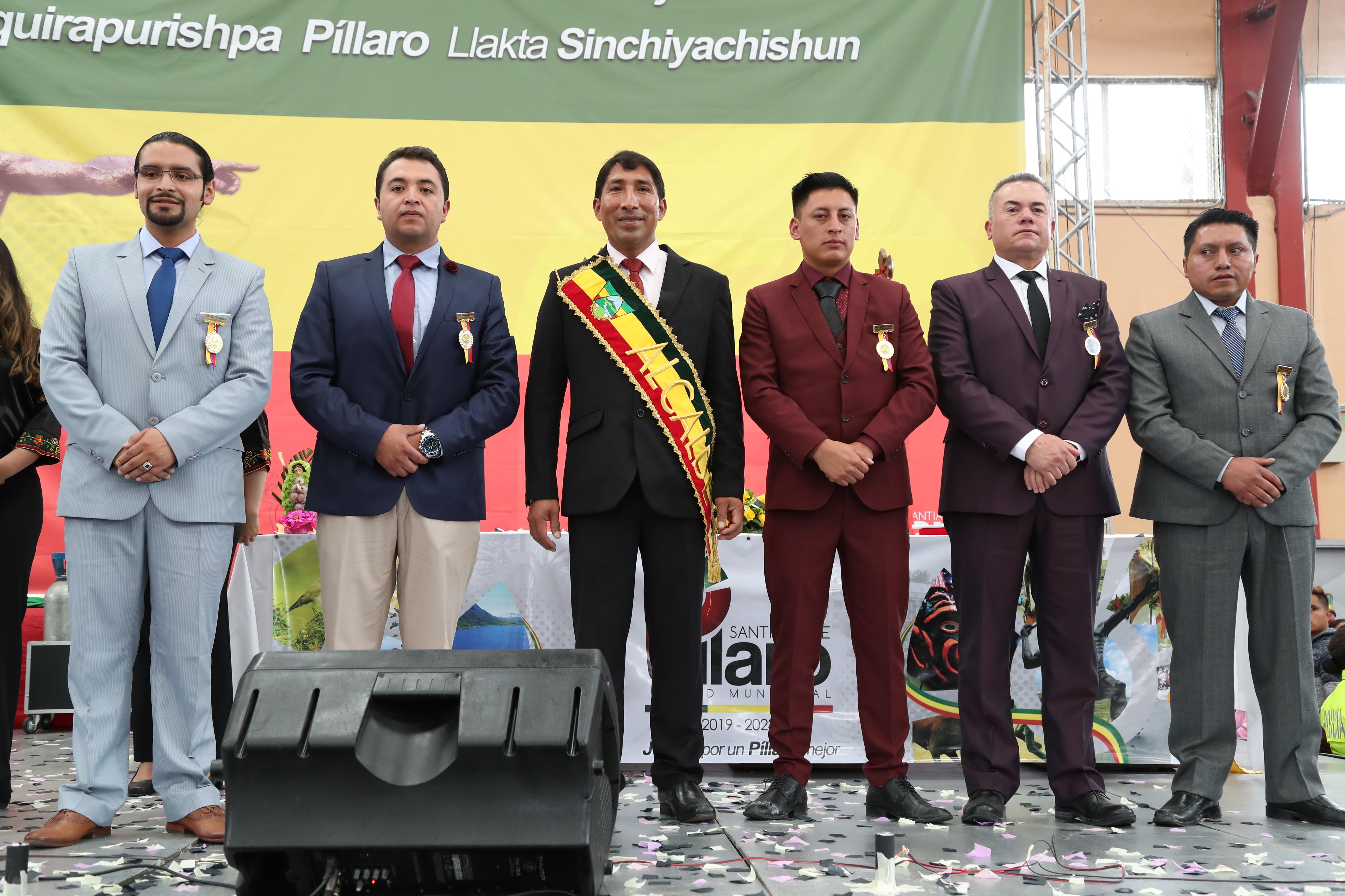 Se posesionaron las nuevas autoridades Municipales de Santiago de Píllaro