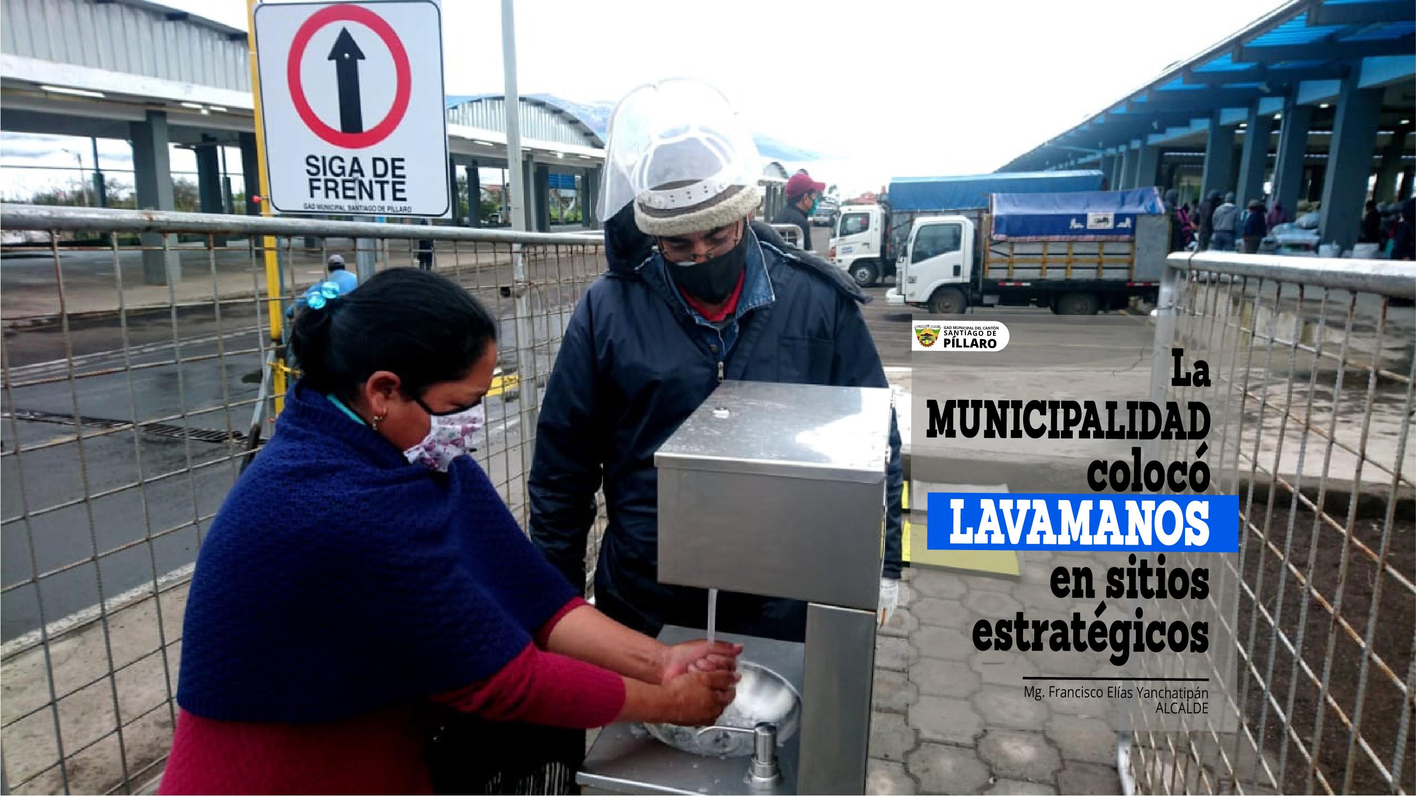 COLOCACIÓN DE LAVAMANOS EN VARIOS LUGARES