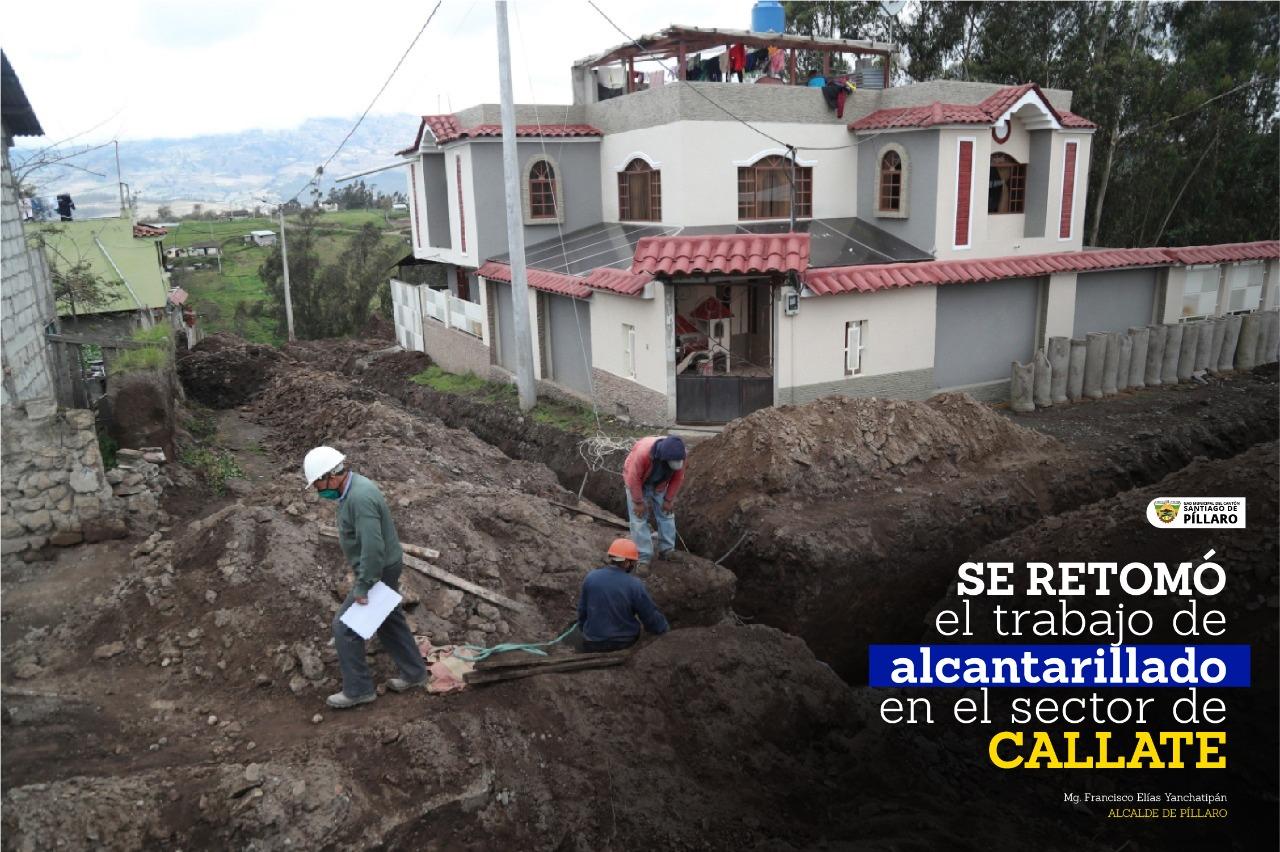 CONSTRUCCIÓN DEL ALCANTARILLADO Y REDES DE AGUA POTABLE EN EL BARRIO CALLATE