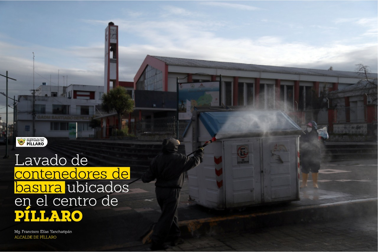 LAVADO DE CONTENEDORES PARA BASURA