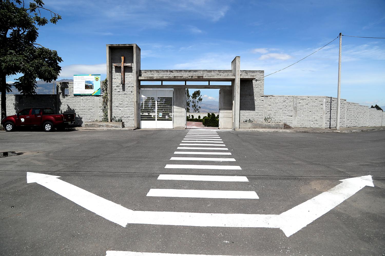 TRABAJOS DE SEÑALIZACIÓN EN EL CEMENTERIO MUNICIPAL UBICADO EN LA PARROQUIA CIUDAD NUEVA