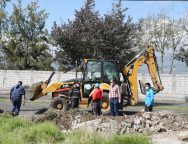 Apertura de vía  en el sector del Colegio Jorge Álvarez