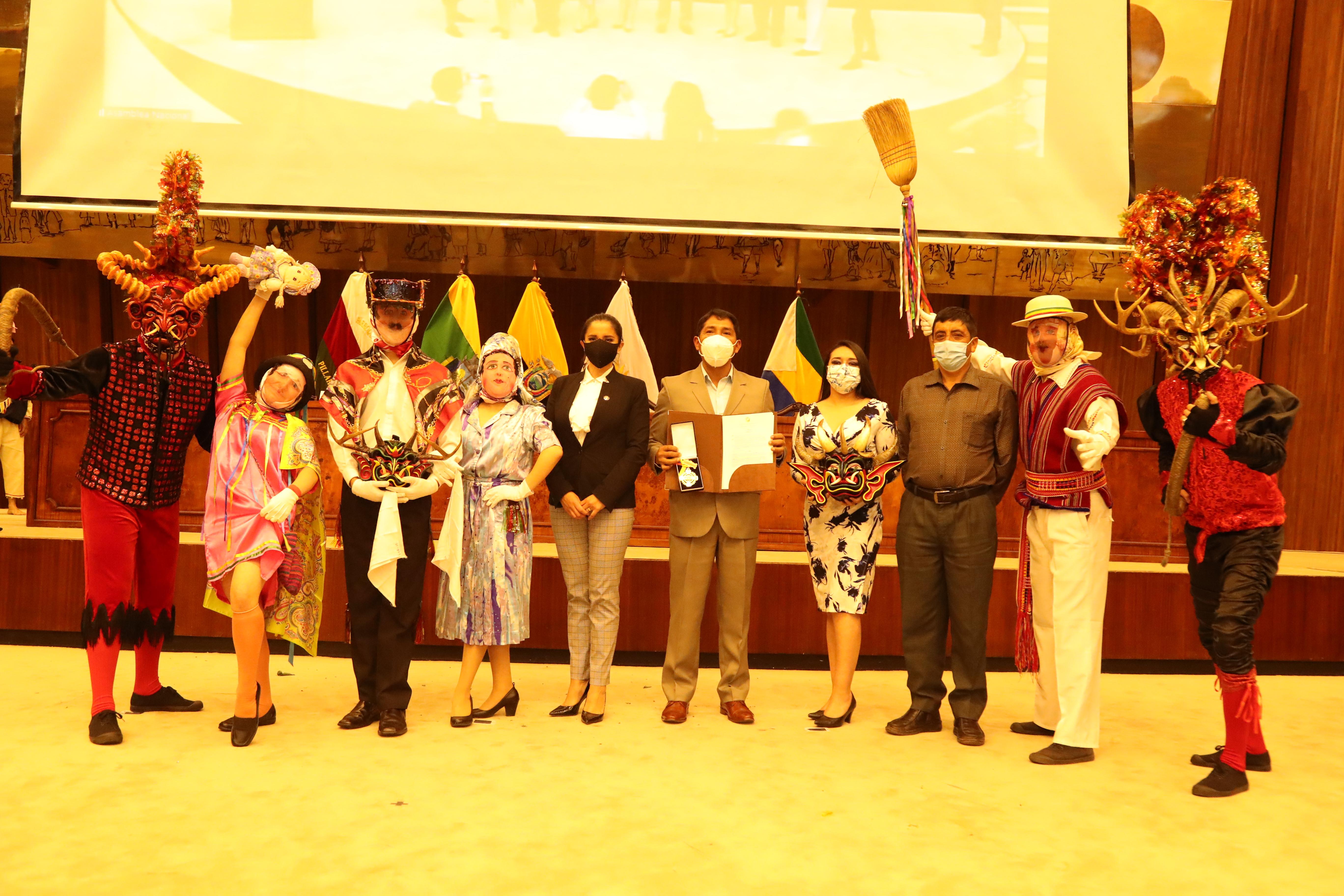 Tradiciones culturales de Píllaro fueron condecoradas en la Asamblea Nacional del Ecuador