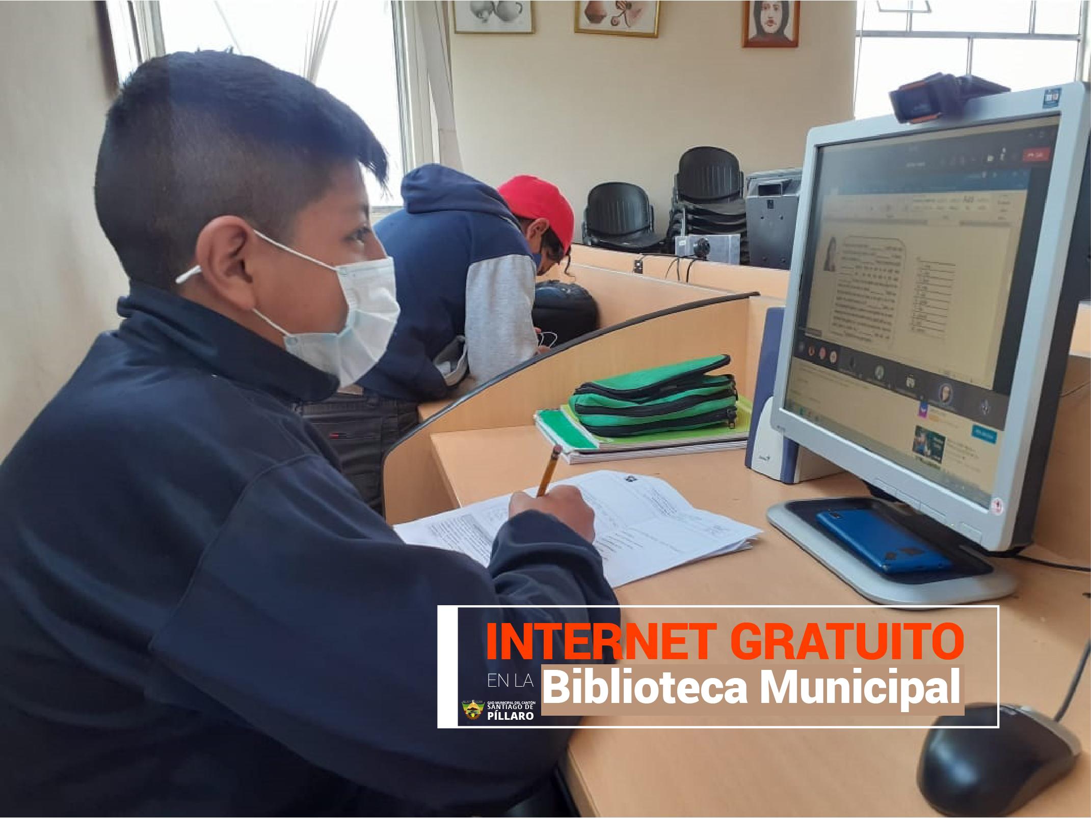 INTERNET GRATUITO EN LA BIBLIOTECA MUNICIPAL